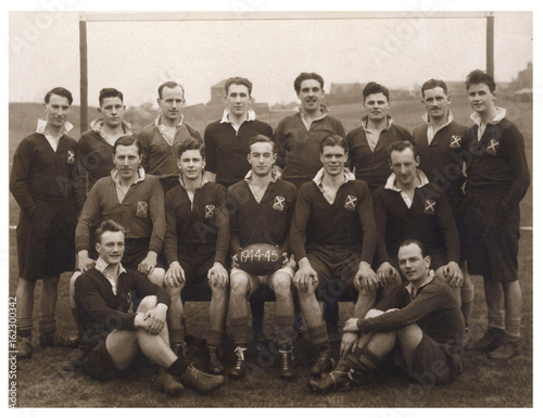 Sport - Rugby - Team Photo. Date: 1945 Canvas Print