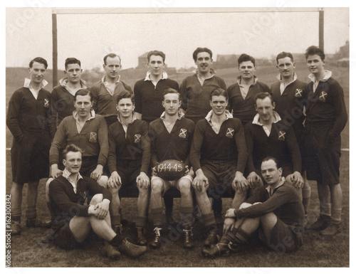 Fotografia  Sport - Rugby - Team Photo. Date: 1945