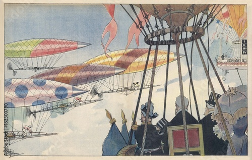 Future Airship Race. Date: 1901 Poster