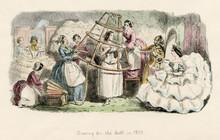 Dressing In 1857. Date: 1857