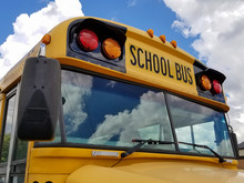 Yellow School Bus With Cloud R...
