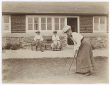 Lady Golfer 1900. Date: Circa ...