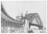 Sydney Harbour Bridge construction. Date: 1931