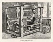 Weaver At His Loom. Date: 1889