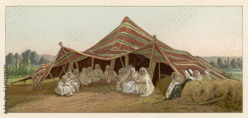 Tent Of Nomadic Arabs Date 19th Century Buy This Stock Photo And