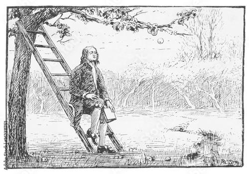 Cuadros en Lienzo Newton - Gravitational Law. Date: 1642-1727