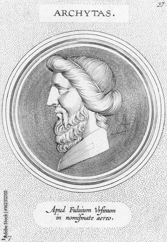 Fényképezés  Archytas of Tarentum. Date: FL. 400 - 365 BC