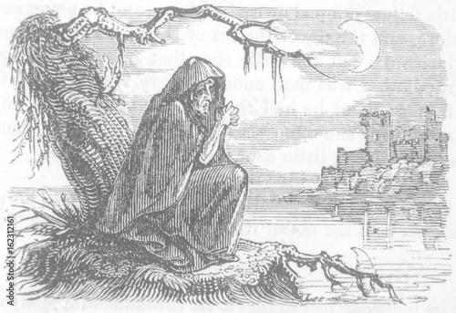 Folklore - Banshees. Date: 1862 Canvas Print