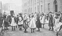 Street Dancing  London. Date: Circa 1900