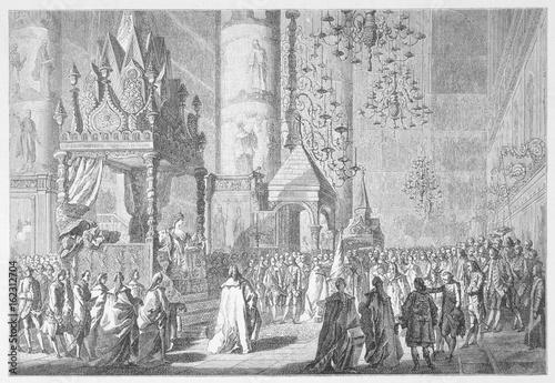 Coronation Catherine II. Date: 1762 Canvas Print
