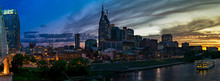 Fiery Nashville Skyline