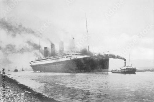 Photo Titanic at Belfast. Date: 1912