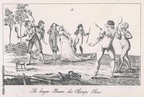 Photographie  Early French Tennis. Date: 1800