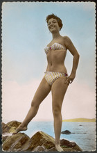 Striped Bikini 1950s. Date: 19...