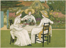 Tea On The Lawn. Date: 1886