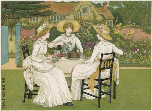 Fototapeta Tea on the Lawn. Date: 1886 obraz