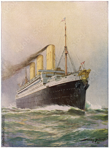 Photo Imperator' Steamship. Date: launched 1912