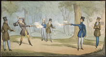 Duel With Pistols. Date: Circa...