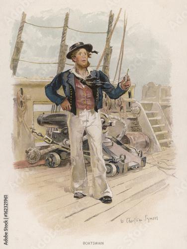 Photo Boatswain - circa 1829. Date: circa 1829