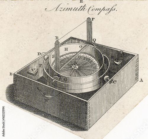 Azimuth Compass. Date: 1797 Canvas Print