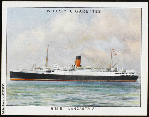Photo  Lancastria Steamship. Date: 1920s