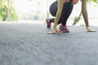 sport woman warming and stretching before jogging, sport concept, welness concep