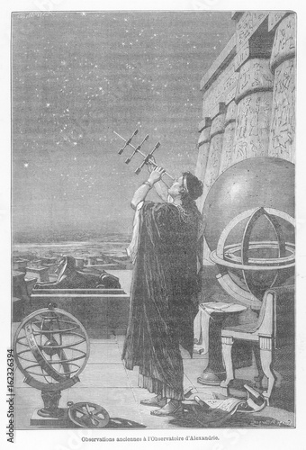 Alexandria Observatory. Date: 2nd cent.BC - 2nd cent.AD Canvas Print