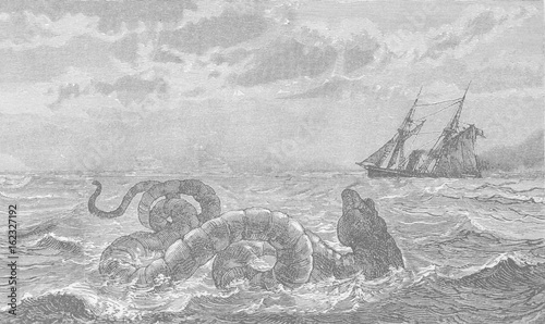 Valokuva  Boston Sea Serpent. Date: August 1817 & later