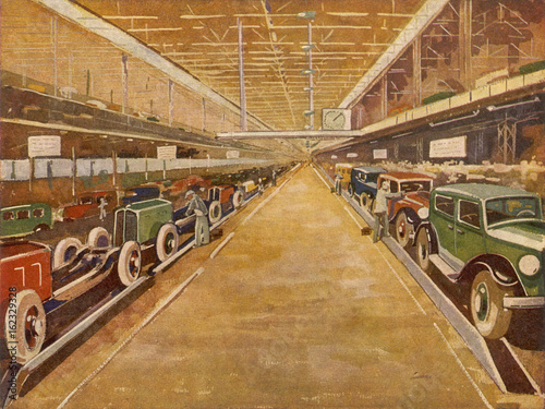 Платно  Renault Assembly Lines. Date: 1932