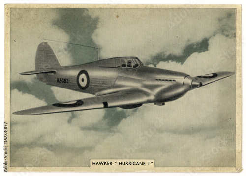 Photo  Hawker 'Hurricane' 1. Date: circa 1938