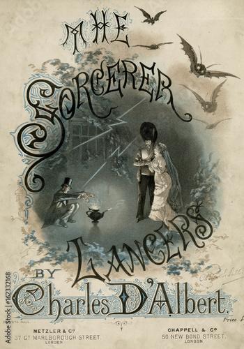 The Sorcerer Lancers  by Charles d'Albert. Date: 1877 Wallpaper Mural