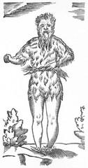 Fototapeta na wymiar Green Man (Roxburghe). Date: circa 1630