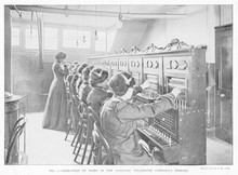 Phone Exchange - 1903. Date: 1903