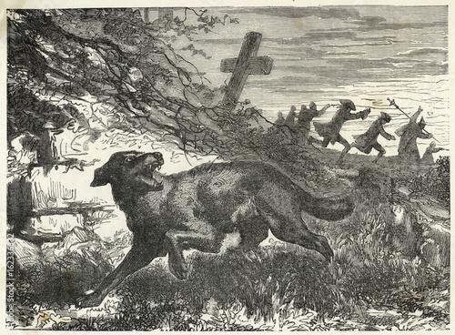 Fotografie, Obraz Folklore - Werewolves. Date: 19th century