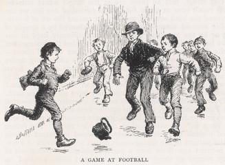 Street Football 1889. Date: 1889