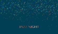Concept Sky Night Stars Pattern. Vector Illustration For Surface Design, Header, Invitation, Card, Poster. Color Dots Random Motif.