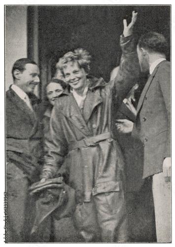 Amelia Earhart. Date: 1932 Canvas Print