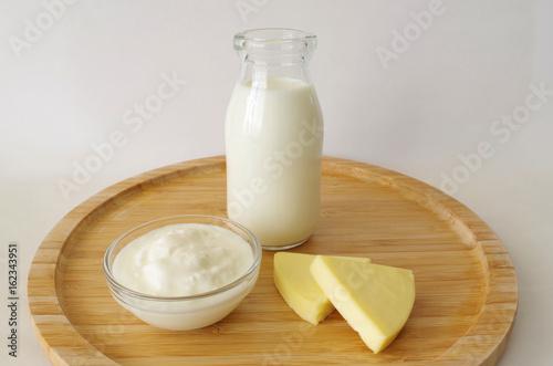 Spoed Foto op Canvas Zuivelproducten 牛乳と乳製品