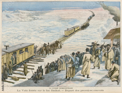 Rail on Ice 1904. Date: 1904 Canvas Print