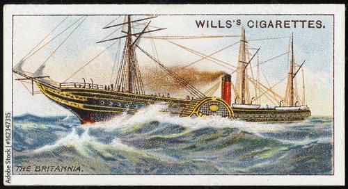 Photo  Britannia Cunarder. Date: launched 1840