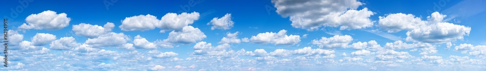Fototapeta Panorama of the blue sky with clouds