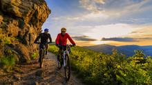 Mountain Biking Women And Man ...