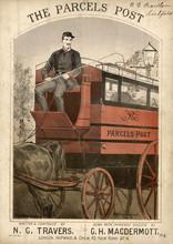 Parcels Post Van - Circa 1870. Date: Circa 1870