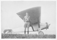 Lindbergh And Plane. Date: 190...