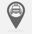 Map pointer with taxi cab icon