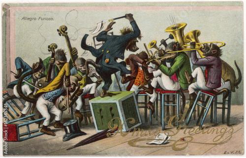 Allegro Furioso - Monkeys Canvas Print