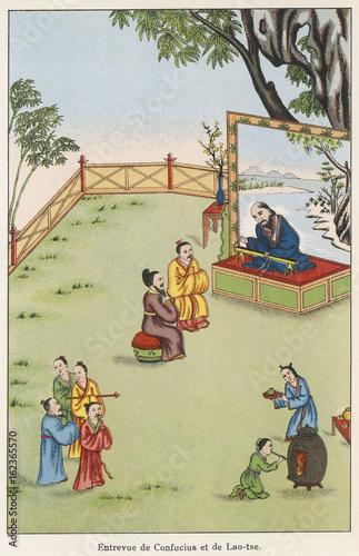 Fotografie, Obraz Confucius (551 - 479 BC). Date: 551 - 479 BC