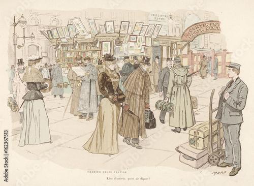 фотография W H Smith bookstall  Charing Cross Station  London