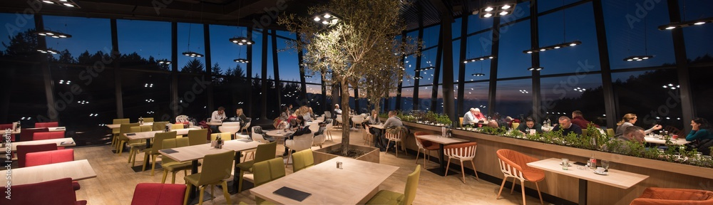 Fototapety, obrazy: lovely evening at a luxury restaurant