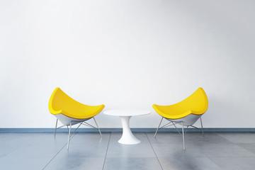 3D-Visualisierung eines Besprechungsplatzes im Büro